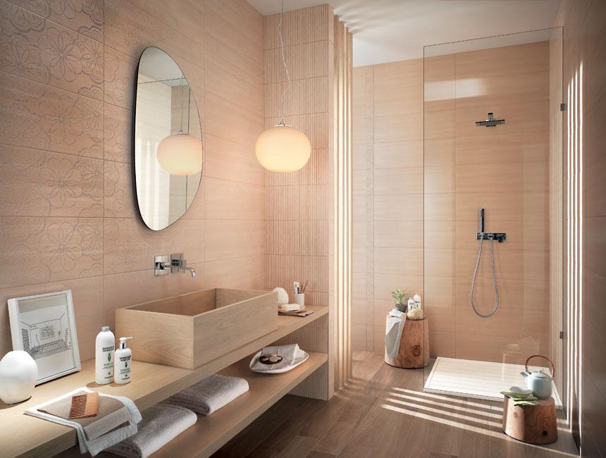 di rivestimenti interni a Bottanuco bagno rosa